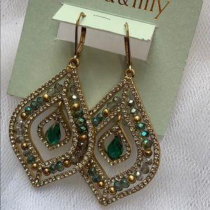 lonna & lilly pavé & Stone Beaded Earrings